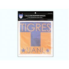 Logotipo Tigres en vinil microperforado